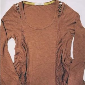 Tops - Long Sleeve Blouse w/ Lace Detail